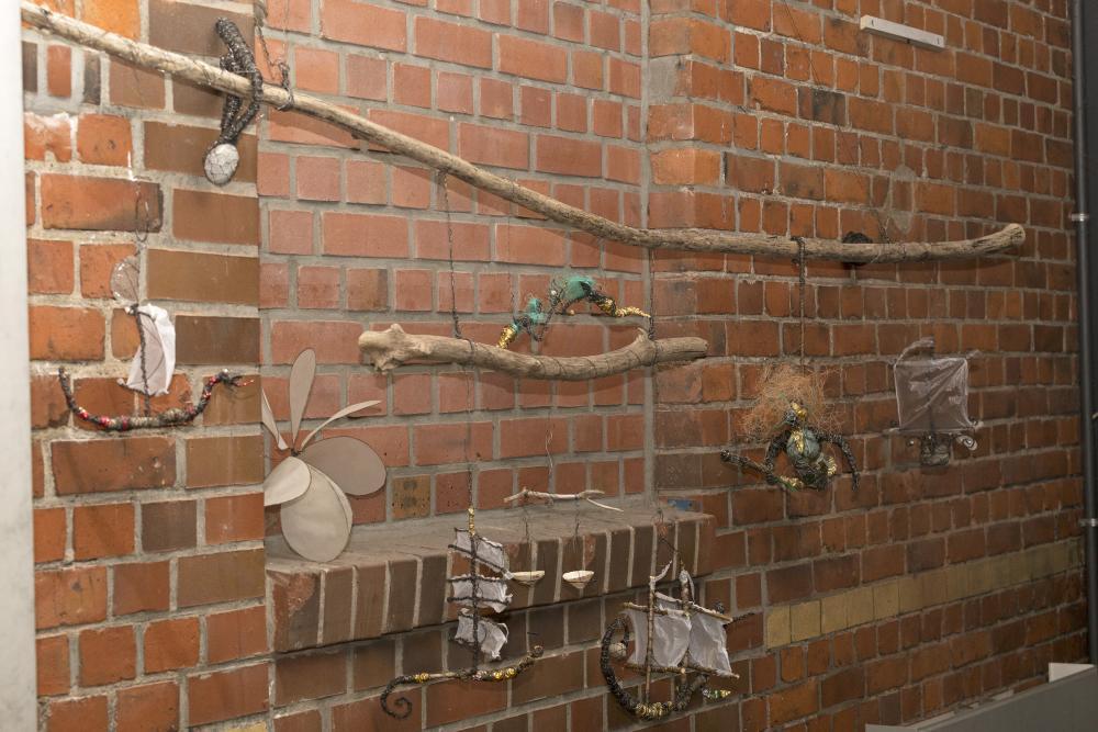 Welt-aus-Draht-Ausstellung, Café Pause, Wilhelmsburg, Hamburg, Deutschland